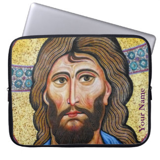 Mosaisk Jesus laptop sleeve