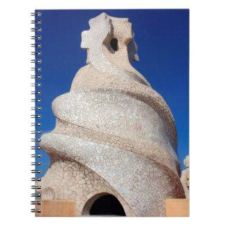 Mosaisk lampglas anteckningsbok med spiral