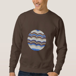 Mosaisk manar för rundablått grundläggande tröja