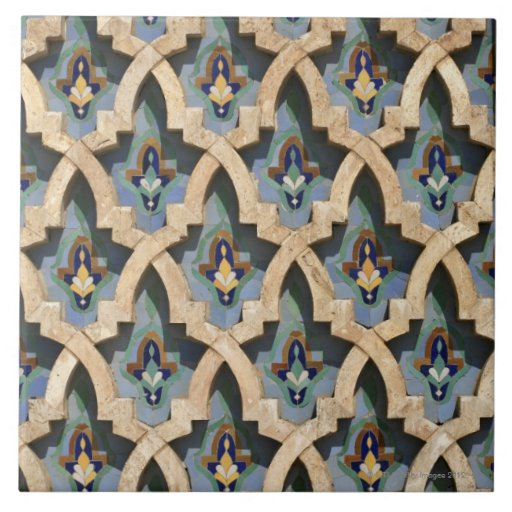 Mosaisk vägg, Hassan II Moské-Casablanca Keramiska Plattor
