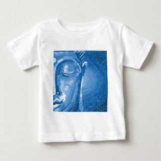 Mosaiskt Buddha för blått ansikte T-shirts