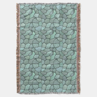 Mosaiskt mönster för sten mysfilt