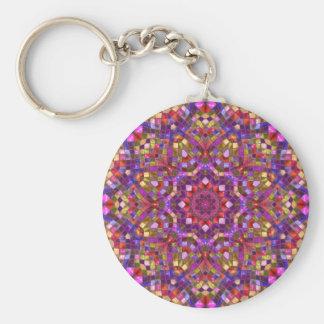 Mosaiskt mönster Keychains, 3 stilar Rund Nyckelring