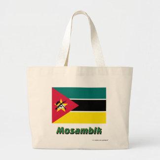 Mosambik Flagge mit Namen Tygkasse