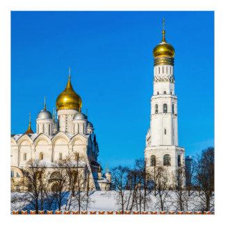 Moscow Kremlin domkyrkor Fototryck