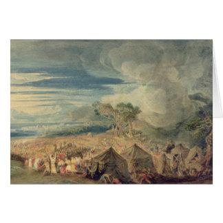 Moses att dela bevattnar av det röda havet hälsningskort