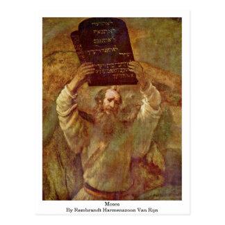 Moses av Rembrandt Harmenszoon Skåpbil Rijn Vykort