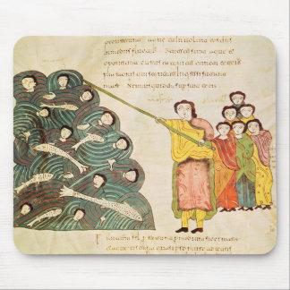Moses bokslut det röda havet på egyptierna musmatta