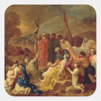 Moses och den skamlösa ormen, c.1653-54 (olja på fyrkantigt klistermärke