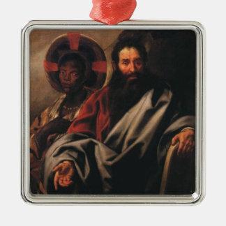 Moses och hans etiopiska fru av Jacob Jordaens Julgransprydnad Metall