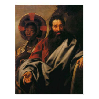 Moses och hans etiopiska fru av Jacob Jordaens Vykort