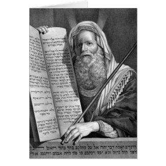 Moses och kortet för tio Commandments Hälsningskort