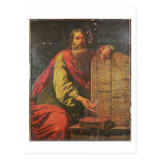 Moses och tabletsna av lagen vykort