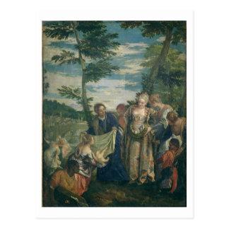 Moses räddade från Nilen, 1580 (olja på kanfas) Vykort