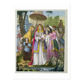 Moses sparade vid pharaoh'sens dotter, från en vykort