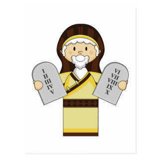 Moses teckenvykort vykort