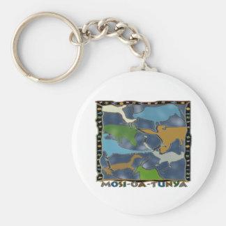 Mosi-oa-Tunya Keychain Rund Nyckelring