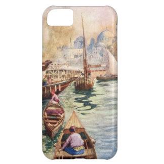 Moské Gobel för vintageGalata Istanbul segelbåt iPhone 5C Fodral