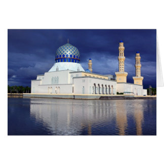 Moské Kota Kinabalu Hälsningskort