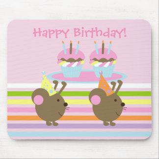 Möss Mousepad för födelsedagmuffinsparty Musmatta