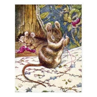 Mössna är lite den upptagna sömnaden vykort