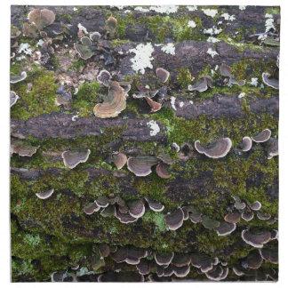 mossy champinjonroligt tygservett