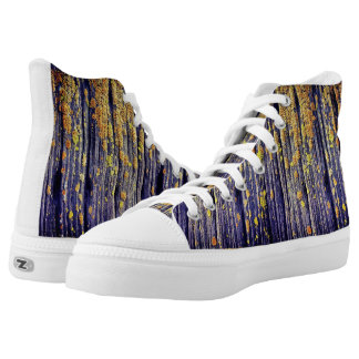 Mossy Wood Texture High Top Shoes