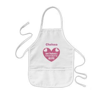 Moster favorit- hjälpreda med känd ROSA hjärta V1C Barnförkläde