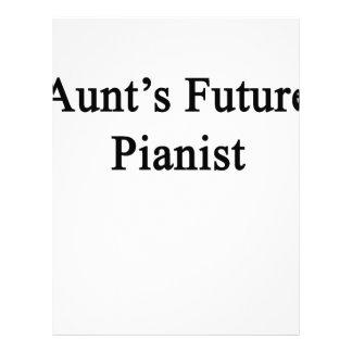 Moster framtida pianist brevhuvud