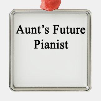 Moster framtida pianist julgransprydnad metall