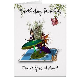 Mosterfödelsedagkort - gulligt gotiskt fjädra för hälsningskort