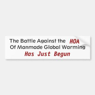 Mot konstgjorda Gobal som värme - som skräddarsy Bildekal