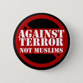 Mot skräck inte Muslims Standard Knapp Rund 5.7 Cm