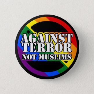 Mot skräck inte Muslimsregnbåge Standard Knapp Rund 5.7 Cm