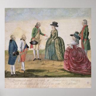 Möta mellan Joseph II och empressen Poster