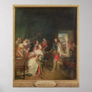 Möta mellan Louis II de Bourbon Poster