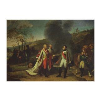 Möta mellan Napoleon mig & Francis mig Canvastryck