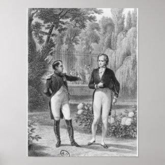 Möta mellan Napoleon mig och Benjamin Poster