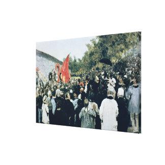 Möta på Mur-desen Federes - Pere Lachaise, 18 Canvastryck