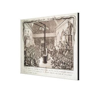 Möte av den Jacobin klubben, Januari 1792 Canvastryck