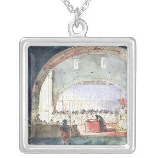 Möte av kapitlet av beställa av tempelet silverpläterat halsband