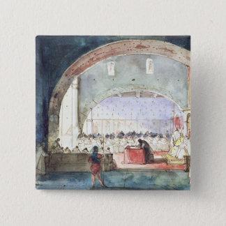 Möte av kapitlet av beställa av tempelet standard kanpp fyrkantig 5.1 cm