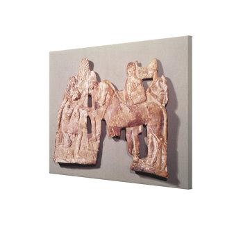 Möte av Orestes och Electra på Agamemnon Canvastryck