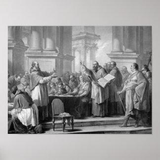 Möte av St Augustine och Donatistsen Poster