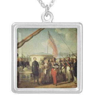 Möte b/w Louis-Philippe och drottning Victoria Silverpläterat Halsband