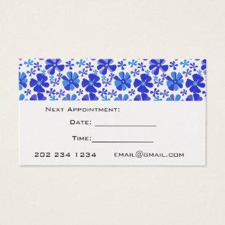Möte gullig blåttLILAblommönster Visitkort