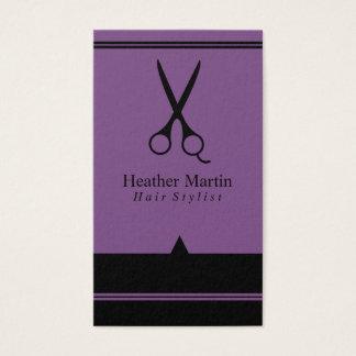 Möte kort för salonghårstylist i lilor