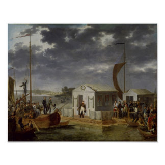 Möte mellan Napoleon Bonaparte Poster