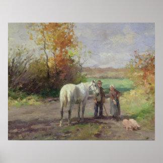 Möte på långt till fält, 1897 poster