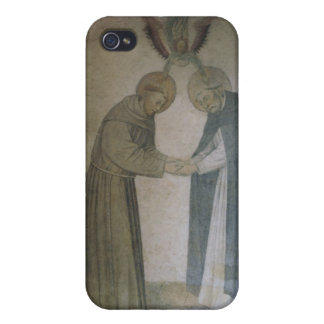 Mötet av St Dominic och St Francis (fresco iPhone 4 Fodraler